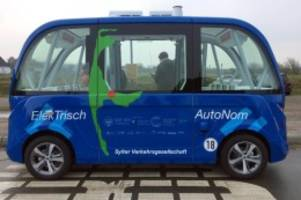 verkehr: autonomer bus auf sylt: mehr als 9000 fahrgäste seit april