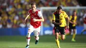 Premier League: Arsenal vergibt Führung in Watford - Saisondebüt für Özil