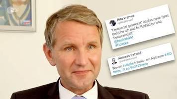 Eklat bei Berlin direkt: Höcke bricht Interview ab: Netz ledert gegen AfD-Politiker – und feiert ZDF-Journalisten