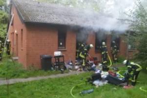 buxtehude: brand in obdachlosenunterkunft – mann schwer verletzt
