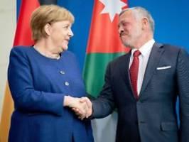 Kritik an Israels Annexionsplan: Merkel sagt Jordanien Unterstützung zu