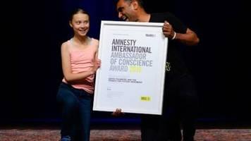 Greta Thunberg mit Amnesty-Titel Botschafterin des Gewissens ausgezeichnet