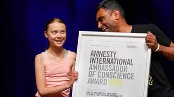 News von heute: Amnesty ehrt Greta Thunberg mit Menschenrechts-Preis