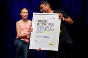 News: Greta Thunberg von Amnesty International mit Preis geehrt