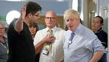 Gesundheitssystem: Vater beschimpft Boris Johnson in Krankenhaus