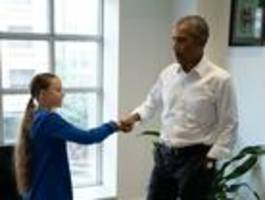 Greta Thunberg trifft Barack Obama