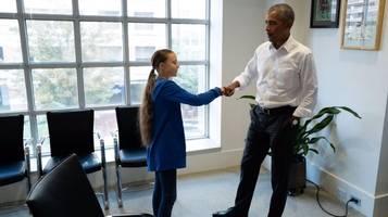 greta thunberg trifft ex-präsident obama: du und ich,  wir sind ein team