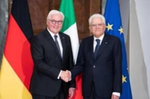 staatsbesuch in rom: steinmeier für entlastung italiens bei flüchtlingen