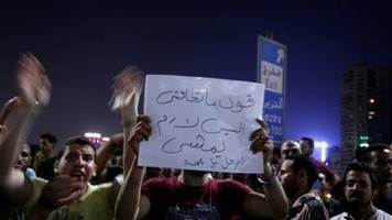 proteste in mehreren städten Ägyptens gegen staatschef al-sisi