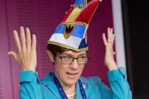 buntes: kramp-karrenbauer wird sonderbotschafterin des karnevals