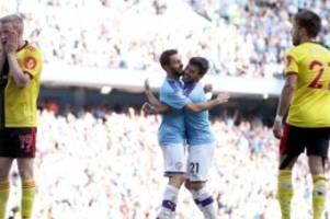 Premier League: Man City deklassiert FC Watford - Rekordsieg knapp verpasst