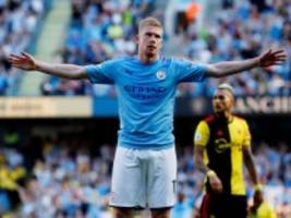 internationaler fußball: manchester city vermöbelt watford
