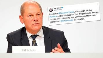 Klimabeschlüsse: Olaf Scholz dankt Fridays for Future und lobt das Klimapaket - dann prasselt Kritik auf ihn ein