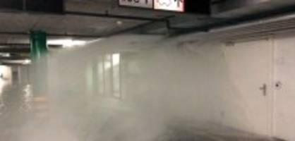 stadt zug: sprinklerzuleitung flutet ganze tiefgarage