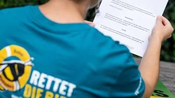 bienenfreunde und naturschützer: bienen-volksbegehren