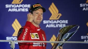Formel 1 - Vettel erlöst: Triumph in der Glücksnacht von Singapur
