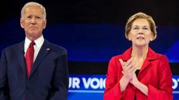 Demokraten in den USA: Warren liegt in Umfrage in Staat erstmals vor Biden