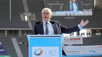 bundespräsident appelliert: fairness und sauberer sport
