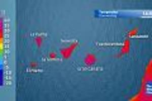 inselgruppe im atlantik - rekord-hurrikan befeuert hitzewelle auf den kanaren