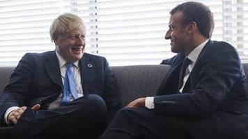 eu-austritt großbritanniens: der countdown läuft: macron setzt johnson frist für brexit-deal