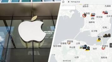 proteste in hongkong: china kritisiert apple wegen app: navigationsdienst für aufrührer