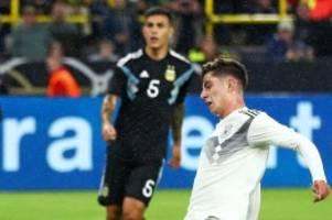 Testspiel: Löws Neulinge brechen am Ende gegen Argentinien ein