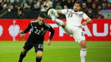 Deutschland - Argentinien 2:2: DFB-Elf verschenkt Führung