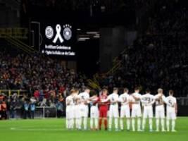Testspiel der DFB-Elf: Fan stört Gedenkminute - und wird zurechtgewiesen