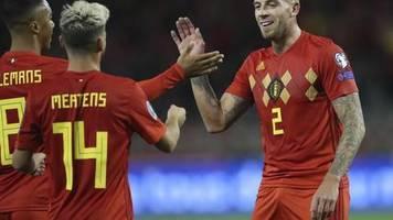 Kantersieg gegen San Marino: Belgien als erstes Team für EM 2020 qualifiziert