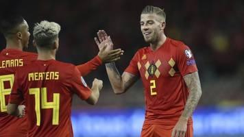 Kantersieg gegen San Marino: Belgien löst erstes Ticket für EM2020