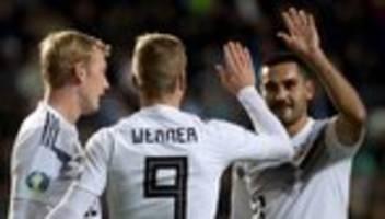 em-qualifikation: dfb-team gewinnt gegen estland trotz roter karte