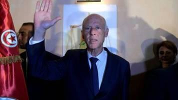 Staats-TV: Erdrutschsieg von Kaïs Saïed bei Präsidenten-Stichwahl in Tunesien