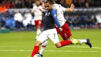 EM-Qualifikation: Frankreichs Weltmeister nur mit einem Remis gegen die Türkei
