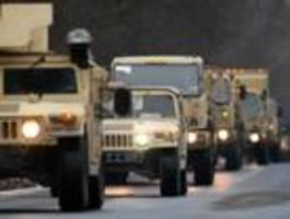 us-militär rollt wieder durch brandenburg