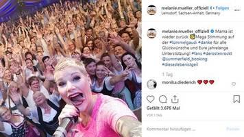 Deutscher Schlagerstar: Sechs Tage nach Kaiserschnitt: Melanie Müller ist zurück auf der Bühne