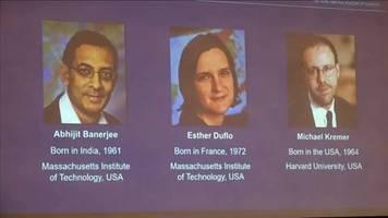 Video: Nobelpreis für Wirtschaft geht an Forscher von US-Universitäten