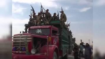 Video: Syrien schickt Truppen an Grenze zur Türkei