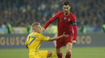 England mit Kantersieg: Ukraine feiert trotz 700. Ronaldo-Tor die EM-Qualifikation