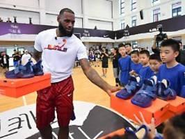 Missbilligung von China-Kritik: Basketball-Ikone LeBron James irritiert