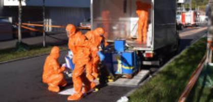 kriens lu: spezialisten rücken nach chemie-alarm aus