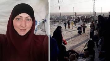 via sprachnachricht: sie haben auf das camp geschossen: deutsche ex-is-anhängerin berichtet aus gefangenenlager
