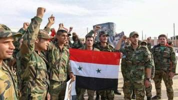 aktivisten: syrische armee und kurdische kräfte kämpfen gemeinsam