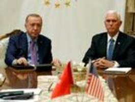 Türkei und USA vereinbaren Waffenruhe in Nordsyrien