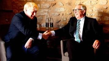 showdown beim eu-gipfel: paukenschlag in brüssel: juncker verkündet einigung im brexit-streit