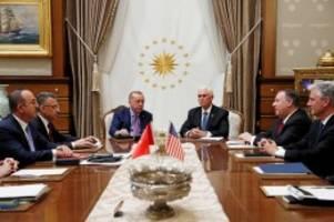 Syrien-Konflikt: Türkei und USA einigen sich auf Waffenruhe in Nordsyrien