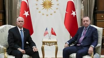 Syrien-Krieg –Treffen von Mike Pence und Recep Tayyip Erdogan in Ankara