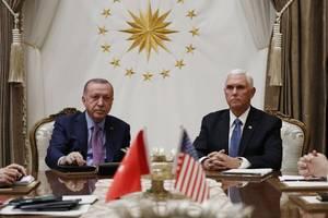 USA fordern Waffenruhe - Pence verhandelt mit Erdogan