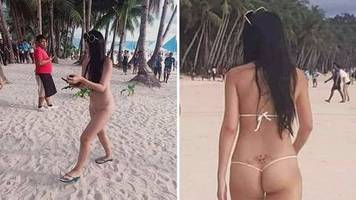 knapper bikini: touristin geht freizügig an den strand – doch ihr outfit hat ungeahnte konsequenzen