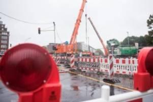 Verkehr: Amsinckstraße in Hamburg am Wochenende gesperrt