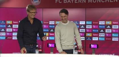 Niko Kovac scherzt auf Pressekonferenz